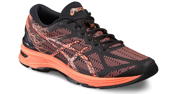 asics Gel-DS Trainer 21 Shoe Women Black/Flash Coral/Silver